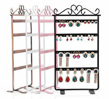 48 Holes Plastic Earrings Display Show Jewelry Rack Stand Organizer Holder AE