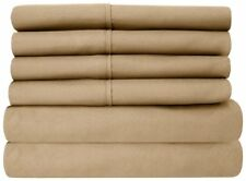 BEDDING COLLECTION 100% Egyptian Cotton 1000 TC AU Sizes in Taupe Solid