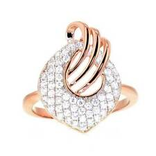 Rose Gold Plated Sterling Silver CZ Women Jewelry Wedding Engagement Ring