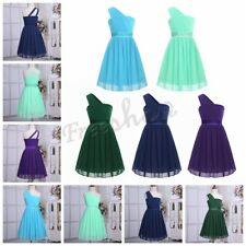 NEW Girls Chiffon One-shoulder Flower Dress Princess Pageant Wedding Formal Gown