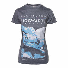 Harry Potter Official Hogwarts Express Skinny Fit Grey Tee Short Sleeved T Shirt