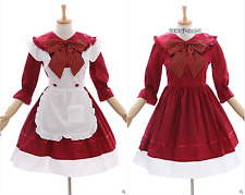 jl-634 Red Maid Maid Anime Maid Gothic Lolita Dress Set Costume Cosplay