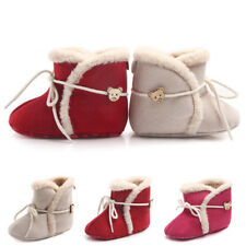 New Baby Girl Boy Winter Shoes Snow Boots Toddler Infant Kids Bear Warm Booties