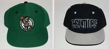Boston Celtics NBA Black or Green Adult Team Logo Snapback Flat Brim Hats/Cap