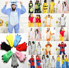 Kids Adult Warm Fleece Kigurumi Pajamas Cosplay Outfits Nightwear Slippers Shoes