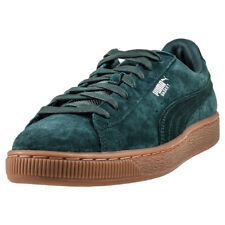 Puma Basket Classic Weatherproof Mens Trainers Green New Shoes