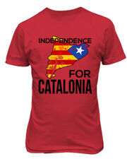 Free Catalonia Flag Support Independence for Catalonia Mens T-Shirt