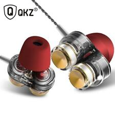 Genuine QKZ KD7 Earphones Dual Driver fone de ouvido auriculares With Mic gaming