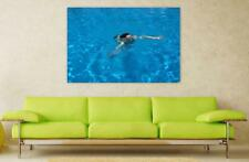 Canvas Poster Wall Art Print Decor Water Pool Swimming Wet Blue