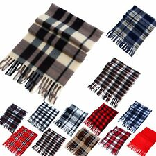 Women Men Winter Warm Scarf Cashmere Long Wrap Shawl Plaid Knit Scarf Pashmin UT