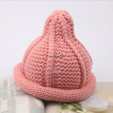New Fall Winter Kids Toddler Solid Beanie Cap Hat Knit Acrylic Hat Hot CLSV