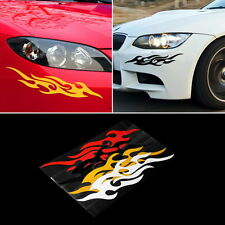 1Pair Car Vehicle Body Fire Flame Decal Window Bumper Hood Sticker Waterproof E