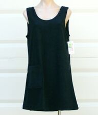 Cotton / Poly Sleeveless Terry Cloth Tank Style Cover Up w/ Pocket - Size L