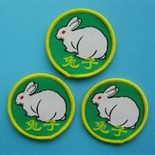 3 Love Rabbit Bunny Sew on Patch Embroidered Applique Kawaii Cute Motif Animal
