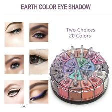20 Colors Shimmer Eye Shadow Powder Palette Cosmetic Makeup Kit Earth Color SQ