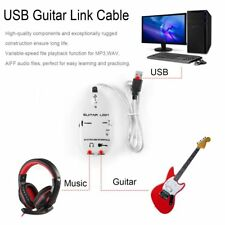 Guitar to USB Interface Link Cable Audio Recorder for PC/for MAC Recording MC