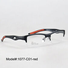 51eyeglasses 1077 new half rim TR90 RX sports optical eyewear glasses frame