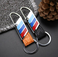 For BMW Refit Elegant Fashion Genuine Leather Metal Car Keychain Car Key Ring