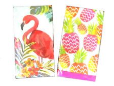 Guest Hand Towels Napkins Party Paper Beach House Flamingo or Pineapples 20 pk