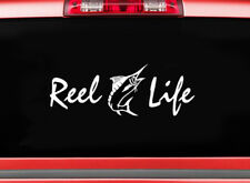 REEL LIFE sticker decal truck car Marlin Sea Lake Ocean Salt life fish Deep