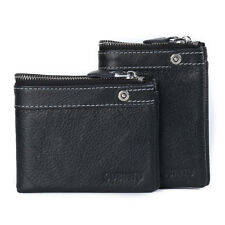 New-Mens 100%Cow Leather Wallet Genuine Septwolves Billfold Fashion Brown Purse