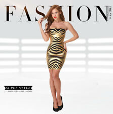 Women Summer New Sexy Bandage Dress Evening Party Bodycon Strapless Above Knee