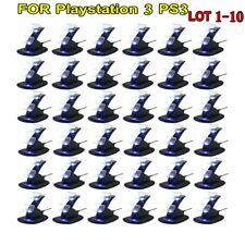 LOT 10 Playstation 3 PS3 Dual Controller Charger LED Charging Dock Station Stand