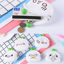 Cute Emoji Ladies Kids Silicone Jelly Coin Purses Key Bag Wallet Jewelry Gift