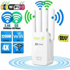 1200Mbps 2.4/5G Dual Band Wireless Range Extender WiFi Repeater Router 4 Antenna
