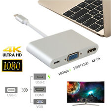 USB Type C to VGA HDMI Video Adapter Type-C Female USB3.0 Hub PD Charging for PC