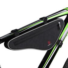Bike Front Bag Panniers Triangle Cycling Bicycle Bags Pouch Reflective Strip