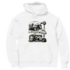 Pullover Hooded hoodie country sweatshirt Antique farm power tractor farmer