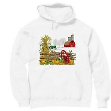 Pullover Hooded hoodie country sweatshirt farm barn fall autumn antique tractor