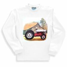 Country Decorative SWEATSHIRT red white antique tractor farm farmer farming barn