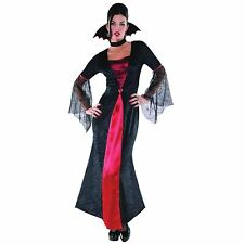 New Ladies Deluxe Red Robe Vampire Witch Wiccan Gothic Costume 8-20 Plus Size BN
