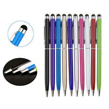 2 in1 Touch Screen Stylus Ballpoint Pen for iPad iPhone Samsung Tablet AS