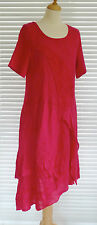 Fabulous Italian linen & jersey lagenlook quirky style lace trimmed Dress RSP£75