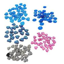 50pcs Shining Heart, Resin Flatback Cabochons for Embellishment Hair Bow Center