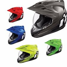 Icon Variant Double Stack Motorcycle Helmet Black Adult Pick Sizes & Colors DOT