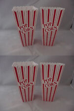 Popcorn Holders Bowl 4, 6 or  8 piece set Plastic Containers Reusable Tub Bucket
