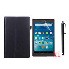 PU Leather Case+1x LCD Film+Stylus Pen For 2016/2017 Amazon Kindle Fire HD 8 8""