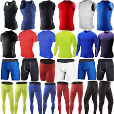 Mens Sports Compression Shorts Pant Tank Top T-Shirt Under Base Layer Armour
