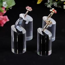 7pcs Women's Clear Black Acrylic Ring Jewellery Display Finger Stand Holder