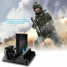 3 in1 Cooling Stand Fans+2 Charging Station for PS4/PS4 Pro/PS4 Slim consoles A4