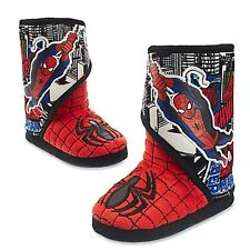 Disney Store Spiderman Deluxe Slippers Costume Shoes Marvel Avengers RETIRED