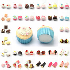 10pcs Cute Cake Flatback Resin Cabochons Mini 3D Sweet Decoration Scrapbooking