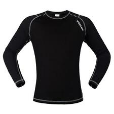 Cycling Long Sleeve Jersey Sports Underwear Hiking Exercise Black White