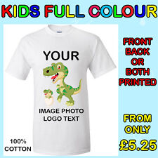 Your Image  Text  Photo  Logo - Kids Custom T-Shirt Printing Personalized, DTG