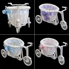 BowKnot Rattan Tricycle Bike  Basket Party Wedding Decor Gift Home Decor KN