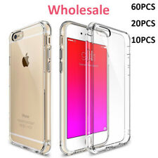 Wholesale Lot Hybrid TPU Shockproof Back Cover Clear Case For iPhone 6s 7 8 10 X